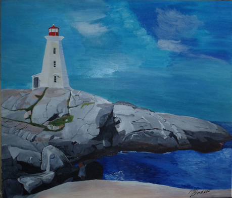 Painting of Peggy's Cove